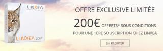 Contrat d'assurance-vie Linxea Spirit, assuré par Spirica : 200€ offerts pour 5.000€ versés, sous conditions