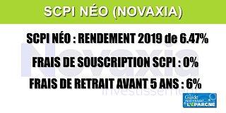 SCPI NEO : un premier rendement de 6.47%, avec des frais de souscription à 0%, appréciable !