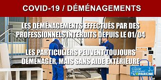 COVID-19 : les déménagements effectués par des professionnels de nouveau autorisés