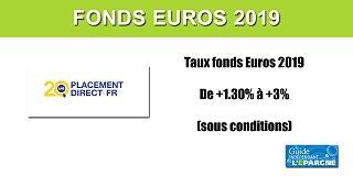 Assurance-Vie, Taux 2019 fonds euros Darjeeling, de +1.30% jusqu'à +3%, sous conditions