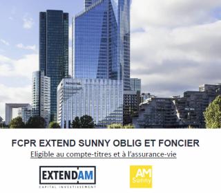 Immobilier financier hors IFI, le FCPR Extend Sunny Oblig et Foncier disponible sur les contrats INTENCIAL Patrimoine