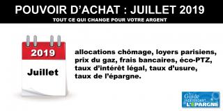 Juillet 2019 - Lettre d'informations hebdomadaire - Guide épargne