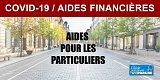 COVID-19 : aides financières pour les particuliers et les indépendants
