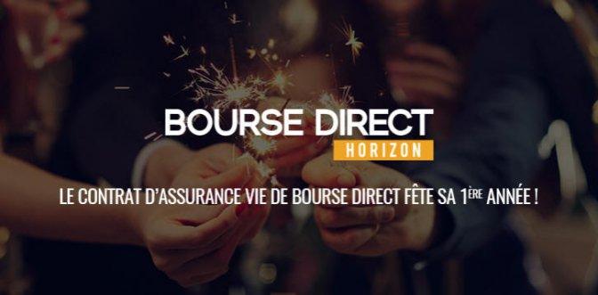 Anniversaire contrat Bourse Direct Horizon